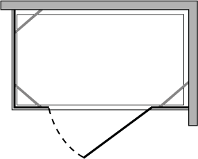CN2F + CNPL : Porte pivotante avec deux parois latérales fixes (modulaire)