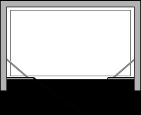 CNPL + CNFL : Porte pivotante avec paroi latérale fixe (en ligne)