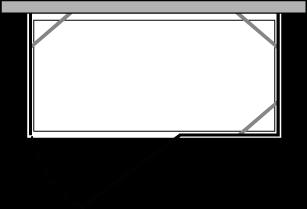 CNPOX + CNFI : Deux parois latérales fixes avec porte et paroi fixe (d'angle)