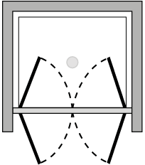 FR2P : Double porte pivotante (en niche)