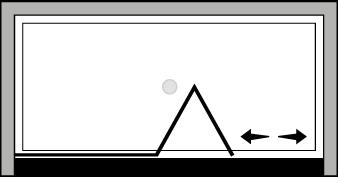 FRSFL : Porte pliante avec paroi fixe (en niche)