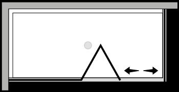 LKSFL + LKFI : Porte pliante avec paroi fixe et paroi latérale fixe (d'angle)