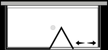 LKSFL + LKFIX2 : Porte pliante avec paroi fixe et 2 parois latérales fixes (d'angle)