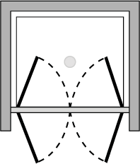 OM2P : Double porte pivotante (en niche)