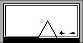 QUSFL : Porte pliante avec paroi fixe (en niche)
