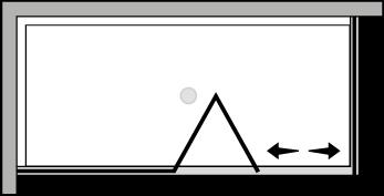 QUSFL + QUFI : Porte pliante avec paroi fixe et paroi latérale fixe (d'angle)