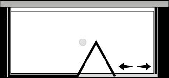 QUSFL + QUFIX2 : Porte pliante avec paroi fixe et 2 parois latérales fixes (d'angle)