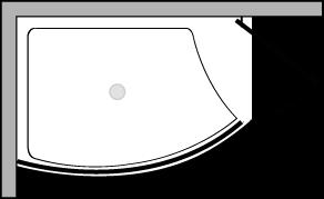 VLPTS + VLFI + VLPO48 : Receveur de douche de 113 cm de large avec paroi fixe et porte