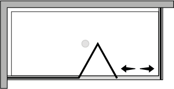 FRSFL + FRFI : Porte pliante avec paroi fixe et paroi latérale fixe (d'angle)