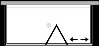 FRSFL + FRFIX2 : Porte pliante avec paroi fixe et 2 parois latérales fixes (d'angle)