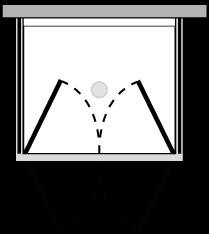 LB2P + LKFIX2 : Double porte pivotante avec 2 parois latérales fixes (d'angle)