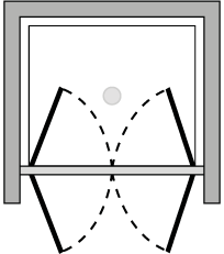 LB2P : Double porte pivotante (en niche)