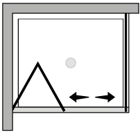 LKSF + LKFI : Porte pliante avec paroi latérale fixe (d'angle)
