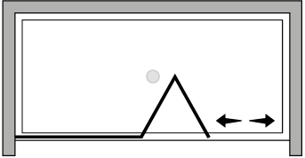 LKSFL : Porte pliante avec paroi fixe (en niche)