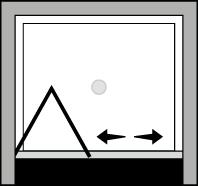 QUSF : Porte pliante (en niche)